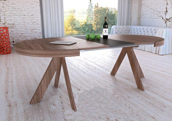 Tipos de mesas de cocina. Mesa de cocina extensible