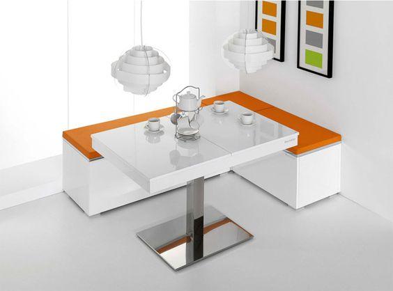 Tipos de mesas de cocina. Mesa de cocina rinconera
