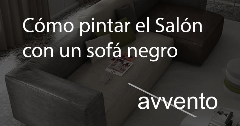 Como Pintar Las Paredes Del Salon Con Un Sofa Negro - Salones-con-sofa-negro