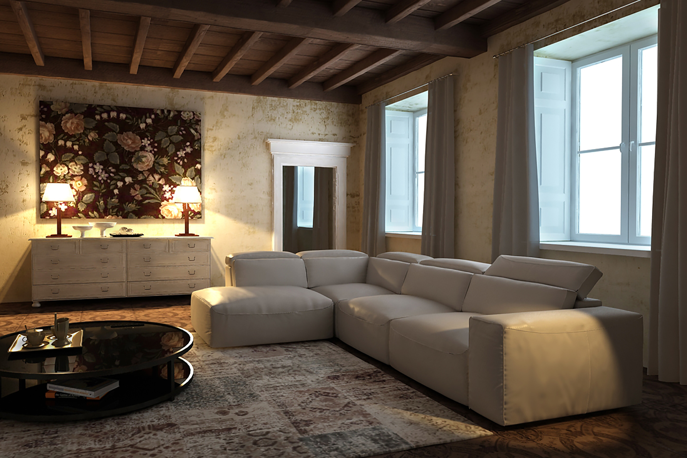 Tendencias en decoración de sofás. Colores neutros