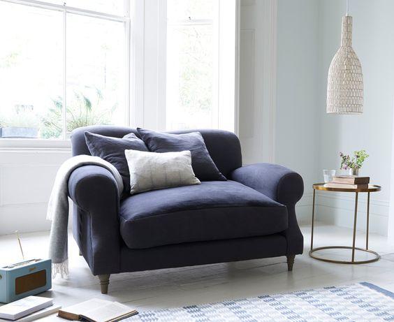 Tendencias en decoración de sofás. Sofá love seat